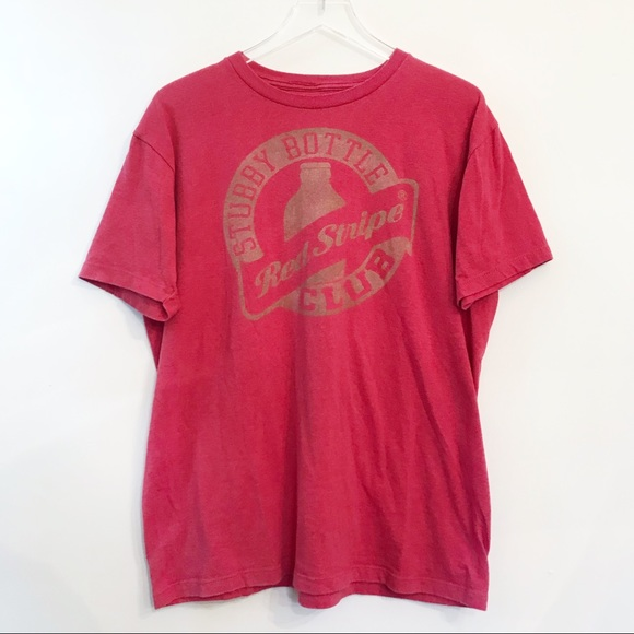 7b7c1b4cc9 Shirts | Red Stripe Beer Distressed Logo Graphic Tee Shirt | Poshmark